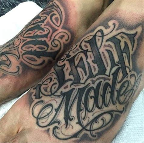 norm tattoo foot work by norm inked inkedmag lettering