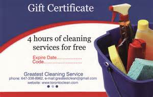 House Cleaning Gift Certificate Template by Cleaning Gift Certificate Toronto Services Gift