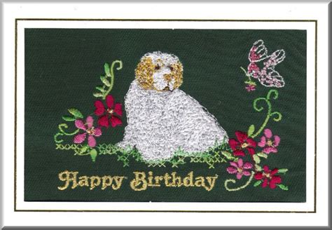 Embroidered Birthday Card Clumber Spaniel Birthday Card Embroidered By Dogmania 8