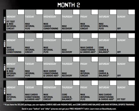 printable version of insanity workout calendar insanity calendar 60 day insanity workout schedule