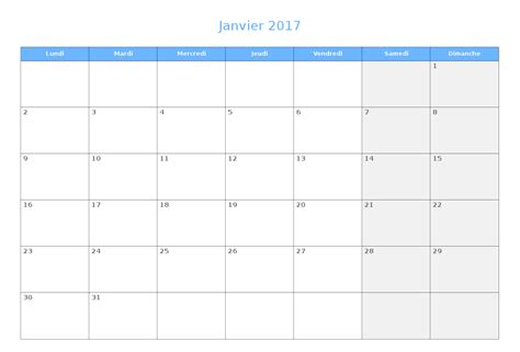 Calendrier 2018 Vierge Calendrier Du Mois Vierge