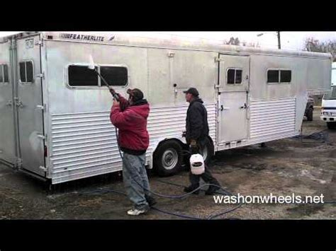 trailer for after pressure washing to brighten an aluminum trailer