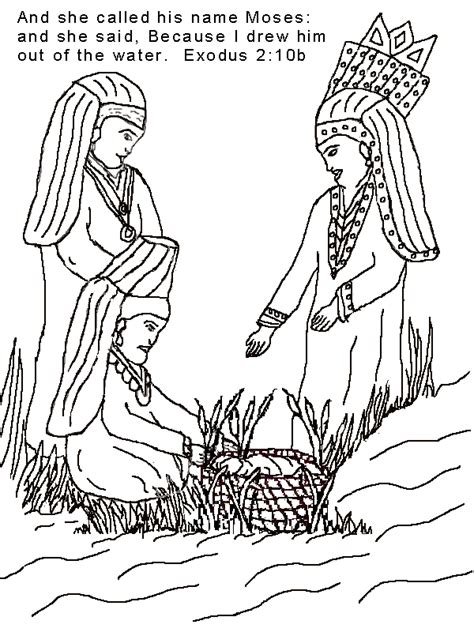 bible story coloring pages baby moses baby moses coloring page