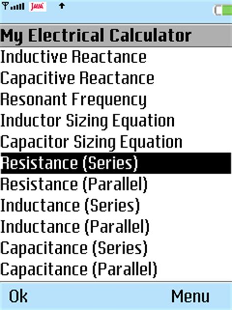 inductor series resistance calculator all about symbian software my electrical calculator for symbian