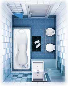 Modern bathrooms and small bathroom designs