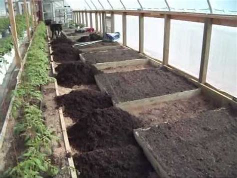 Greenhouse Raised Bed Preparation   YouTube
