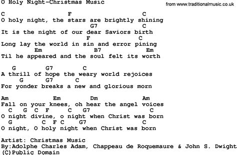 Oh Holy Night Lyrics And Chords Guitar