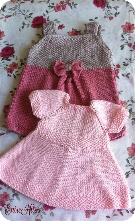 vestidos para bebes de tejido entrehilos y algo m 225 s vestidos tejidos para bebe con