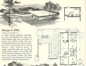 mid century home plans vintage house plans 1092 antique alter ego