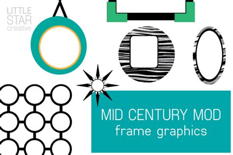 Mid Century Mod Frame Graphics ~ Icons on Creative Market