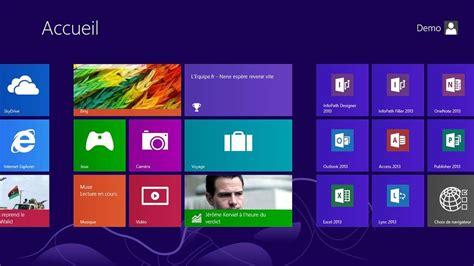 windows 8 mode bureau windows 8 pilotage au doigt et 224 la souris tuiles