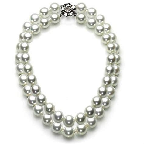 south sea white shell pearl bridal strand necklace 12mm