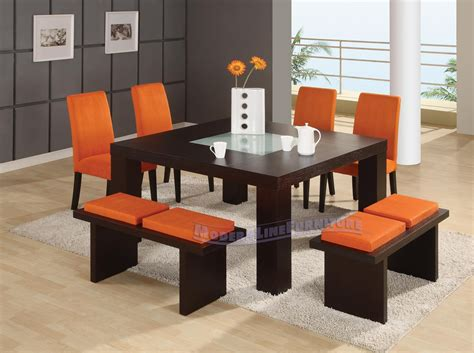 unique dining room set orange sorbet dine in or takeout