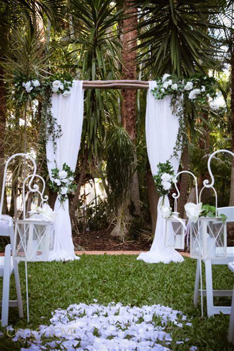 enchanted forest wedding twilight ceremony