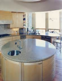 Kitchen Decorating Ideas For Countertops Artisan Stone Collection Round Granite Island Modern