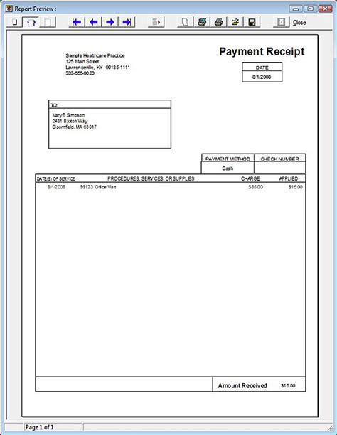 doctor receipt template free 7 best images of free printable doctor receipt