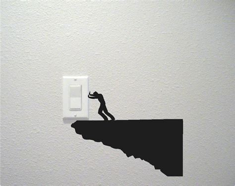 unique light switch and electrical outlet wall decals by
