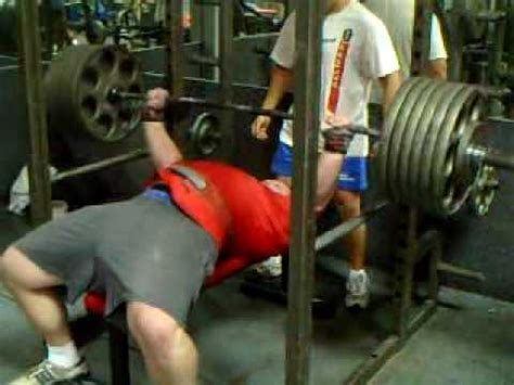 single ply bench press 605 bench press single ply youtube