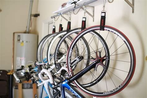 Hanging Bike Racks For Garage by Quality Bike Hanging System Bikez
