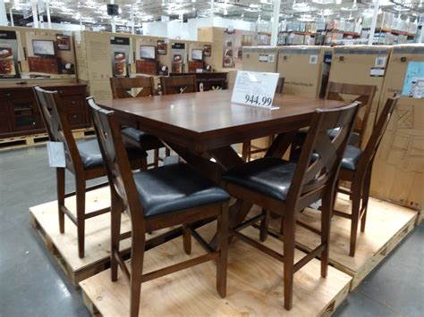 costco counter height dining table charleston 9 counter height dining set