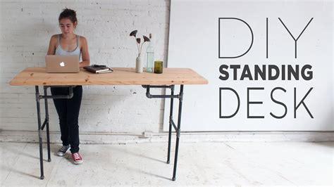 diy standing desk youtube