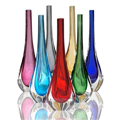 vasi colorati stilla vasi in vetro colorati vetro di murano fornace mian