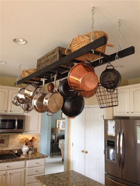 best 25 pot racks ideas on pot rack hanging