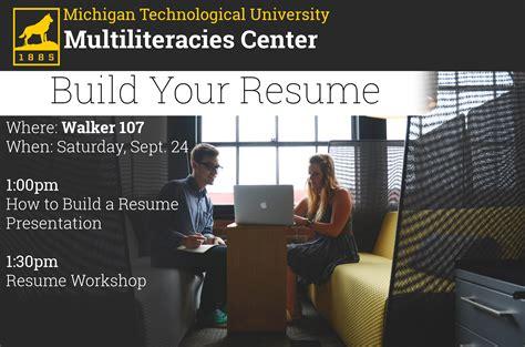 resume workshop humanities