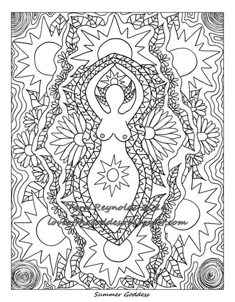 goddess mandala coloring page printable coloring page coloring pages summer solstice