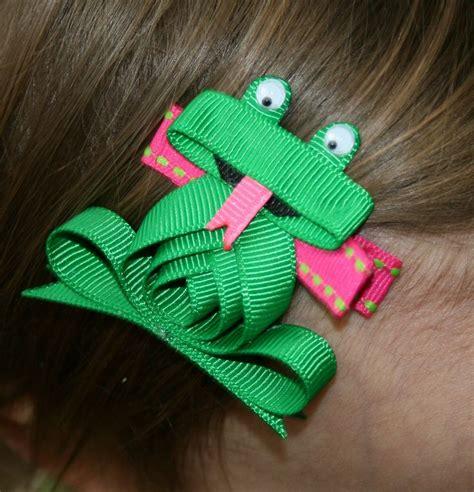 ribbon sculpture instructions frog ribbon sculpture hair clip