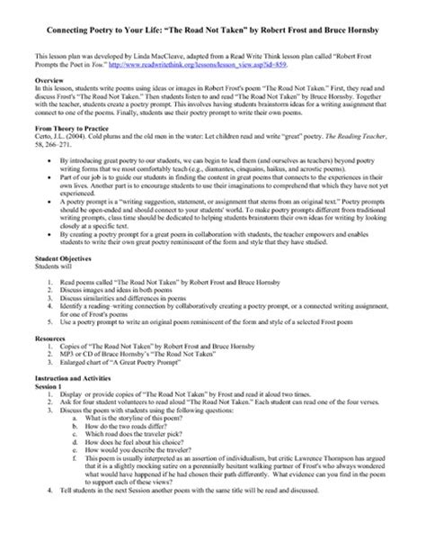 biography poem lesson plan 9th grade english poetry lesson plans connecting poetry