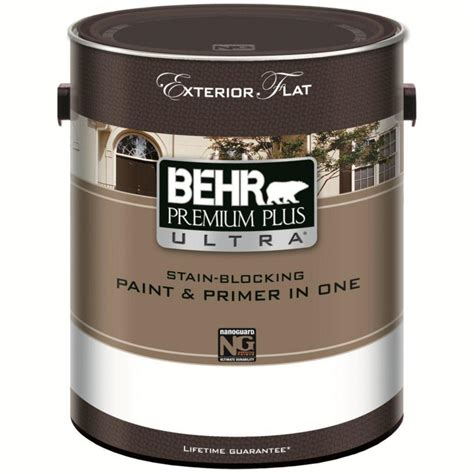 behr premium plus ultra exterior paint primer in one flat medium base 3 7 l the home