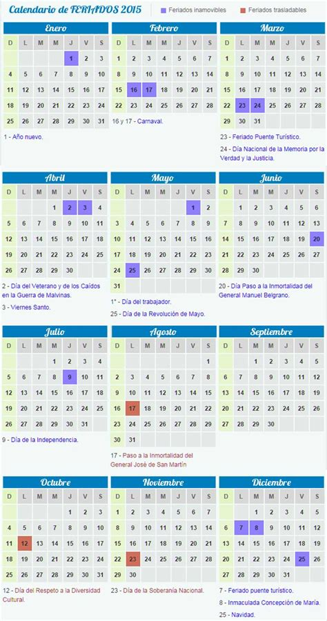 search results for calendario feriados 2015