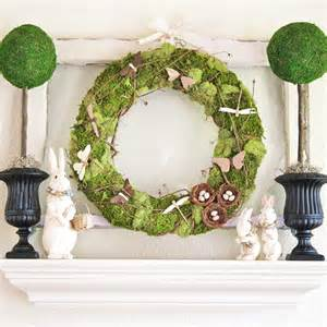 real home spring and easter mantel decorating ideas from better homes and gardens