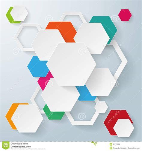 design concept hexagon abstract hexagonal background stock vector illustration