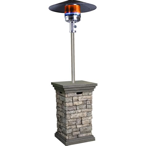 Propane Patio Heaters Shop Bond 42 000 Btu Stone Composite Liquid Propane Patio