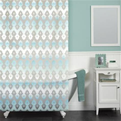 Gray And Blue Shower Curtain by Buy Blue And Grey Shower Curtains From Bed Bath Beyond