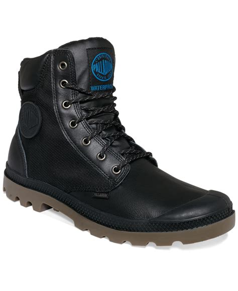 palladium boots palladium pa sport cuff wp2 boots in black for lyst