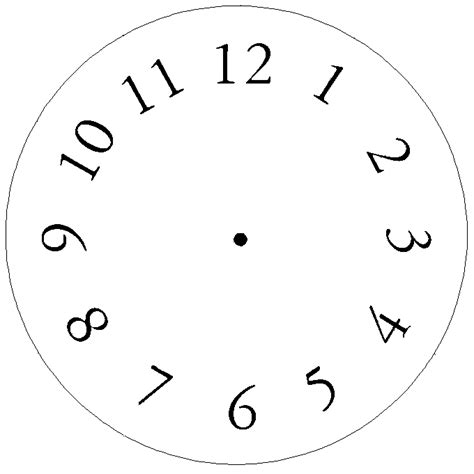 Free Craft Projects Clock Clock Craft Template