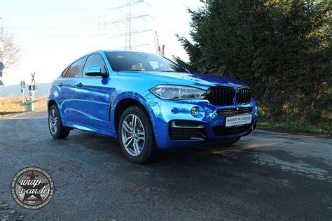Folierung Auto by Bmw X6 Folierung In Chrom Blau By Wrap A Car De
