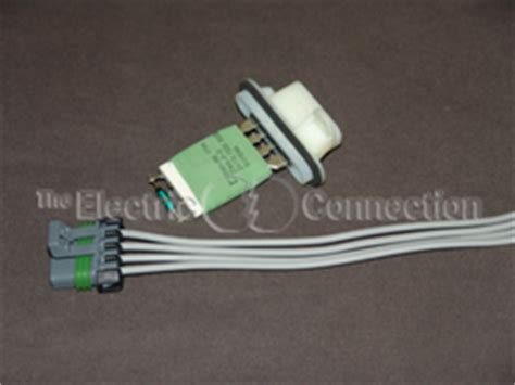 blower motor resistor wiring harness colorado colorado blower resistor 4194 harness combo the electric connection store