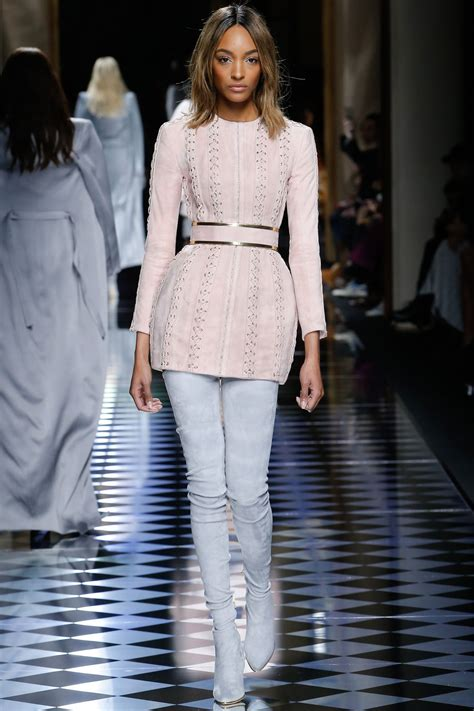 dunn collection jourdan dunn balmain show fashion week march 2016