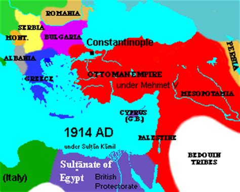 map of ottoman empire 1914 egypt