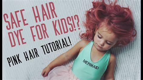 safe hair color kid safe hair color pink hair color tutorial