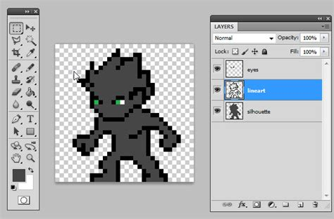 Drawing 8 Bit Characters by Pixel 32x32 Tutorial