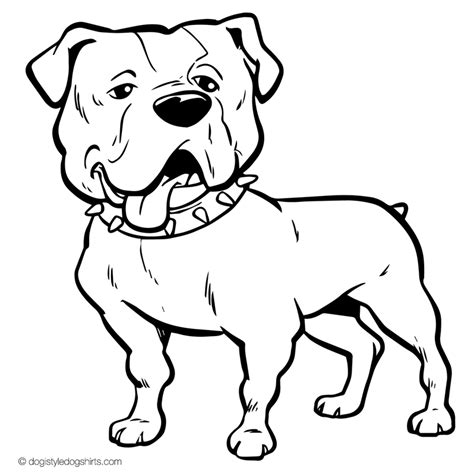 american bulldog coloring pages 37 free dog coloring pages ready to color dogistyle