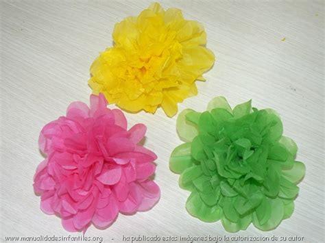 flores en papel seda paso a paso flores de papel de seda manualidades infantiles