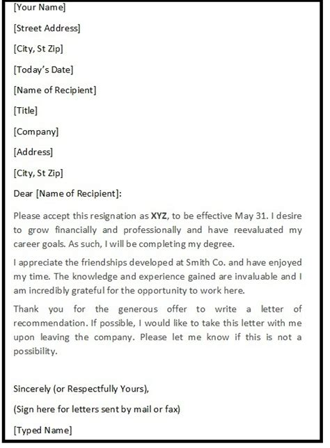 Polite Letter Of Resignation by Polite Resignation Letter Sle Resignation Letters Sle