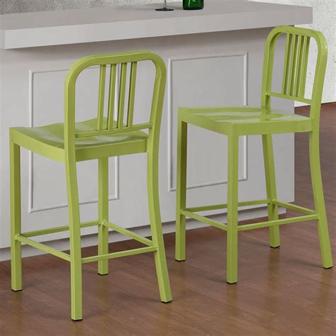 Metal Counter Stools Overstock by Limeade Metal Counter Stool Set Of 2 Overstock