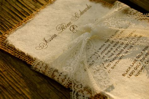 wedding invitation with lace lace wedding invitations